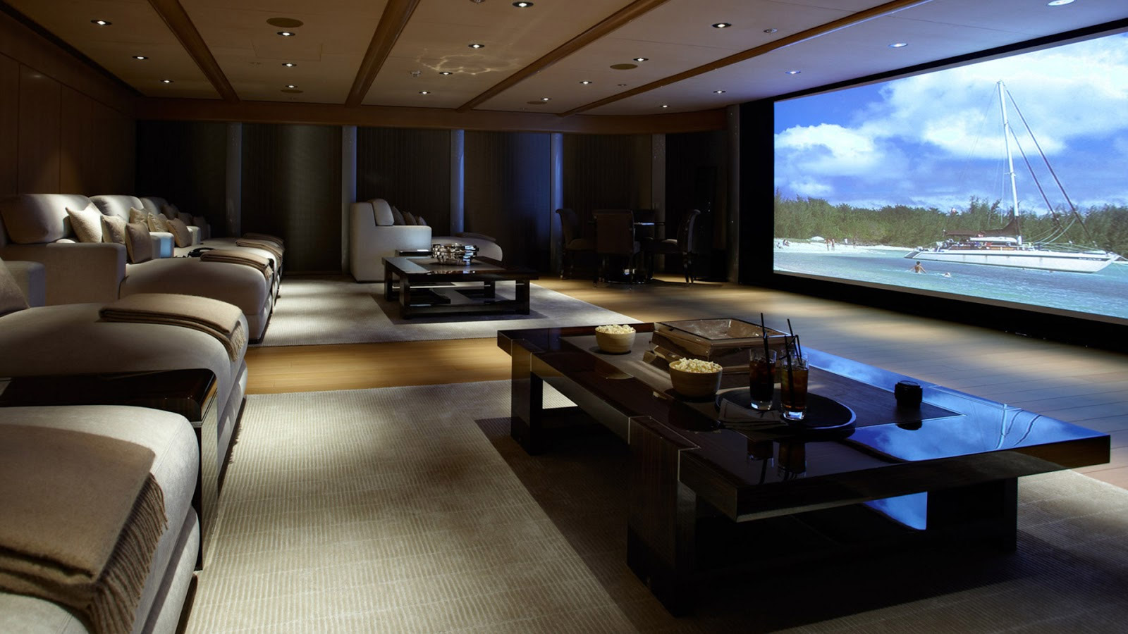 Custom living room audio/visual installs